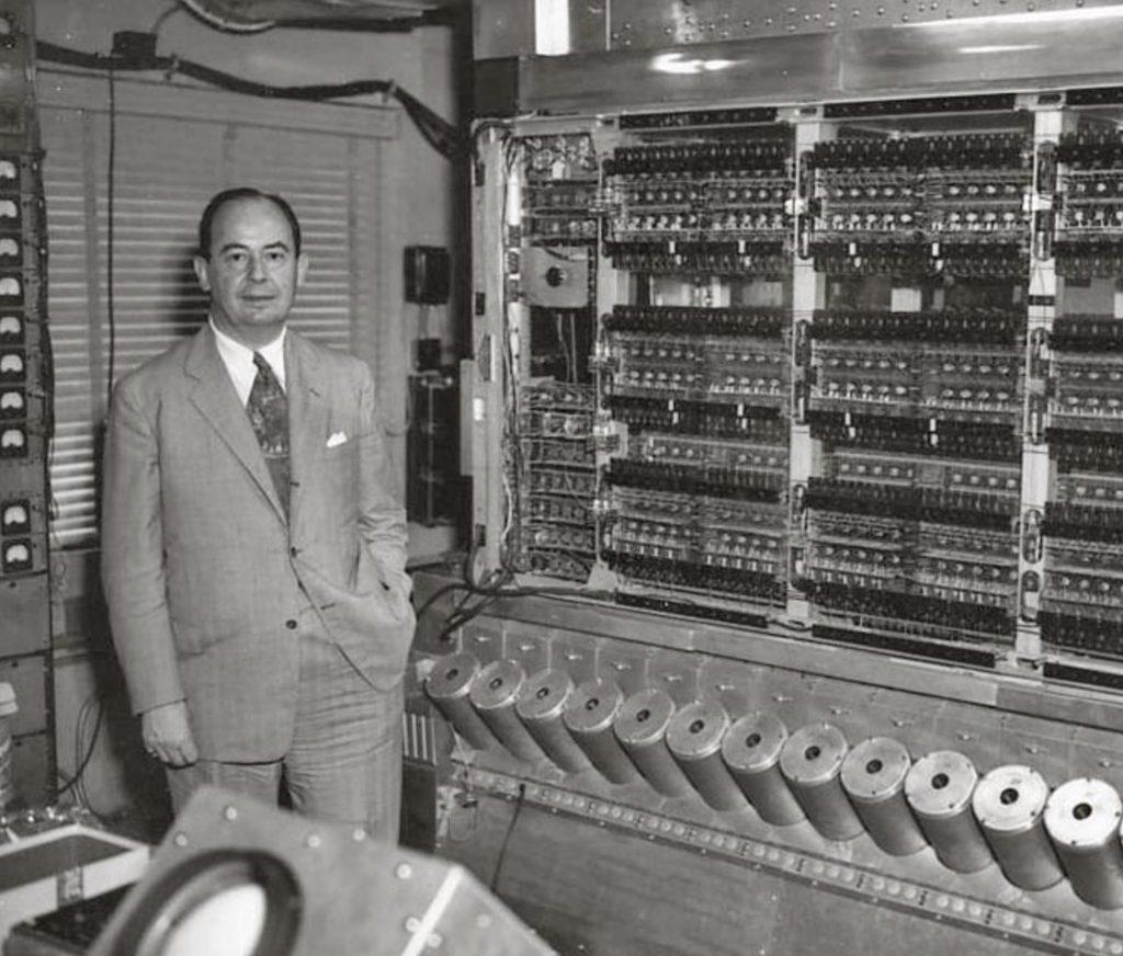 John von Neumann a jeho high-speed computer, rok circa 1952